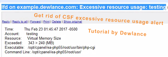 How to disable Lfd/csf excessive resource usage without disabling csf options?