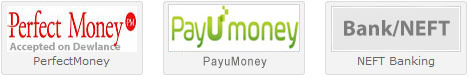 accept perfectmoney, india neft bank, okpay